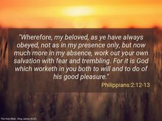 #Work out your #Salvation in #Fear and #trembling #Philippians2_12_13