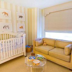 Striped Nursery, Transitional, nursery, Dillon Kyle Architecture
