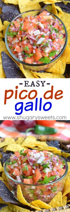 Get out the sombreros and margaritas: this Easy Pico de Gallo recipe is perfect for taco night and any summer get-together! Don't forget to serve this dip with Town House Sea Salt Pita Crackers for one amazing bite. Mexican Dishes, Mexican Food Recipes, Ethnic Recipes, Appetizer Recipes, Dinner Recipes, Appetizers, Culture Tomate, Do It Yourself Food, Vegetarian Tacos