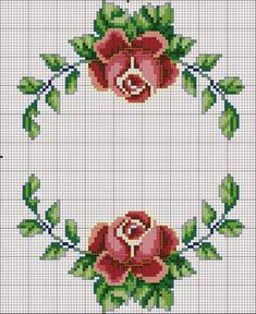 Cross stitch flowers: 45 Models, Graphic and Step-by-step Cross stitch flowers: 45 Models, Graphic and Step-by-step <!-- Begin Yuzo --><!-- without result -->Related Post 'The Eagle' Art Print on Wrapped Canvas Ea. Cross Stitch Borders, Cross Stitch Rose, Cross Stitch Flowers, Counted Cross Stitch Patterns, Cross Stitch Charts, Cross Stitch Designs, Cross Stitching, Cross Stitch Embroidery, Hand Embroidery