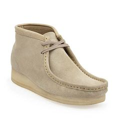Wallabee Boot-Men in Sand Suede - Mens Boots from Clarks $159.99