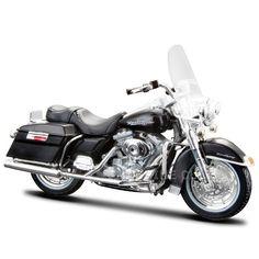 Miniatura Moto Harley-Davidson 1999 FLHR Road King Maisto 1:18 - Machine Cult   A loja das camisetas de carro e moto