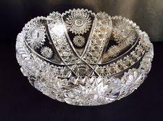 American brilliant cut glass bowl SALE on Etsy, $195.00
