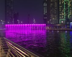 The newly opened dubai water canal
