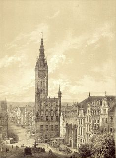 Danzig, Prussia, Old Buildings, Historical Photos, Barcelona Cathedral, Big Ben, Wwii, Celtic, Architecture Design