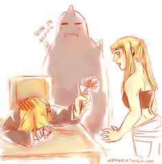 Ed and Winry | Art: m7angela