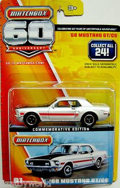 1968 Ford Mustang GT/CS Matchbox 60th Anniversary Commemorative Edition #1