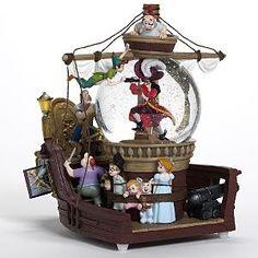 Disney Peter Pan Pirate Ship Musical Snowglobe ~NIB~