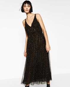 ZARA - SALE - LONG TULLE DRESS WITH POLKA DOTS
