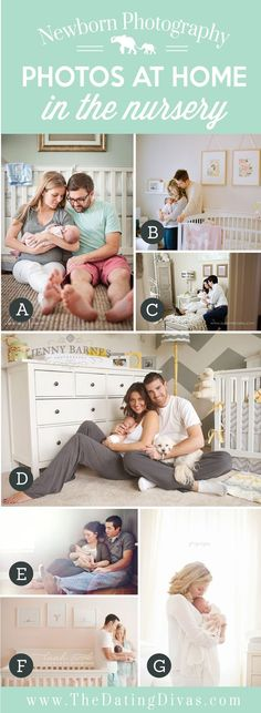Cute At Home Newborn Photos in the Nursery