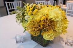 Isari Flower Studio + Event Design is a San Diego florist specializing in wedding flowers, everyday flower arrangements, business and house accounts. Yellow Centerpieces, Flower Studio, 60th Birthday, Event Design, Tabletop, Flower Arrangements, Wedding Flowers, Wedding Inspiration, Table Decorations