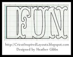 Fun site with great layouts all cut with your Cricut, she is so generous with her designs