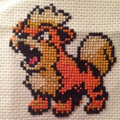 Growlithe #pokemon #growlithe #crossstitch