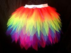 rainbow tutu. I would make this longer in the back for a parrot costume.