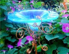 Gorgeous Butterfly feeder: Make your own using as shallow dish. add some sugar… Butterfly Feeder, Glass Butterfly, Butterfly Plants, Birdhouse Designs, Bird House Kits, Garden Quotes, Garden Stakes, Beautiful Butterflies, Dream Garden