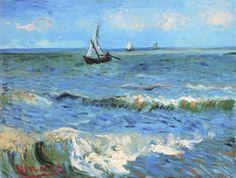 Vincent Van Gogh - The Sea At Les Saintes Maries De La Mer - art prints and posters