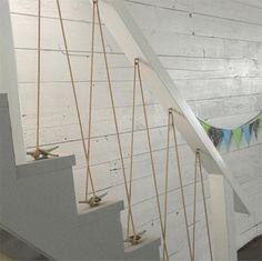 rope railing staircase balustrade