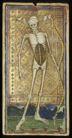 Death from the Visconti-Sforza tarot cards - might make my own Tarot cards this year.