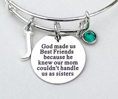 God Made Us Best Friends Because He Knew Our Mom by MyInitialCharm