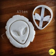 Alien and UFO cookie cutters | biscuit dough cutter | spaceship space outerspace spaceships abduction one of a kind ooak