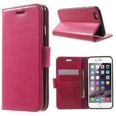 Köp Läderplånbok Premium Apple iPhone 6/6S rosa online: http://www.phonelife.se/laderplanbok-premium-apple-iphone-6-6s-rosa
