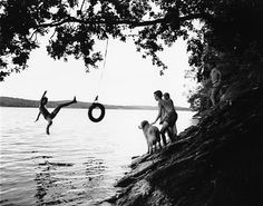 It is seriously one of my dreams in life to have a lake house with a tire/rope swing over the water