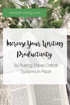 Write more in less time! Increase your writing productivity with these simple systems for client management, time management and money management.