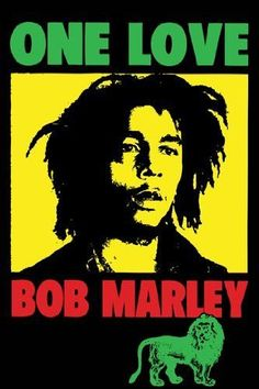 BOB MARLEY POSTER One Love Pop Art RARE HOT NEW 24x36
