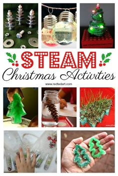 Christmas STEAM Activities -When science collides with Christmas. you get this awesome collection of Christmas STEAM Activities for Kids. Lots of fun and fabulous Science Ideas for Christmas. Christmas Activities For Kids, Preschool Christmas, Easy Crafts For Kids, Christmas Crafts For Kids, Toddler Crafts, Simple Christmas, Holiday Crafts, Christmas Ideas, Xmas