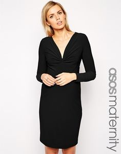 ASOS Maternity Body-Conscious Dress With Ruched Plunge