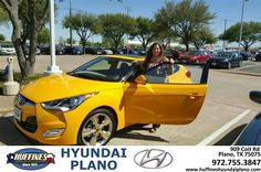 https://flic.kr/p/FYKsTR | Congratulations Angie on your #Hyundai #Veloster from Elise Miller at Huffines Hyundai Plano! | deliverymaxx.com/DealerReviews.aspx?DealerCode=H057