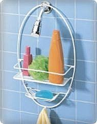 Single Shelf Oval Bath Caddy by Better Bath by Better Bath. $5.99. This hanging shower caddy helps keep your shower accessories organized with its shelf and towel hook.