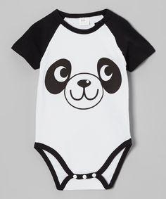Black & White Panda Bodysuit