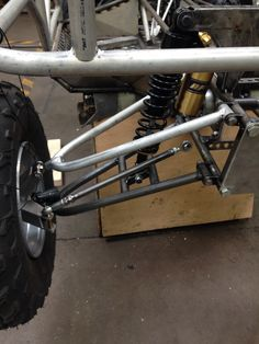 The Aluminium top A-arm is trial fitted