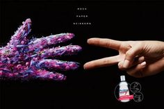New campaign made by Young and Rubicam Brasil for Protex Antibacterial Hand Sanitizer. 'ROCK PAPER SCISSORS Eliminates of bacterias'. Creative Advertising, Ads Creative, Advertising Design, Advertising Campaign Example, Best Advertising Campaigns, Advertising Agency, Ad Campaigns, Scissors Hand, Rock Paper Scissors