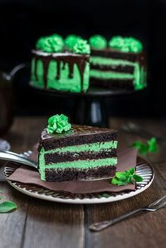 Tart Recipes, Cooking Recipes, Mint Cake, Cookie Packaging, Gelatine, Big Cakes, Pastry Cake, Sweet And Salty, Homemade Cakes