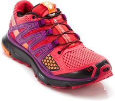 Salomon XR Mission Trail-Running Shoes - these are awesome!  They have a wide toe box, a toe protector for roots that jump out & grab you, they have a fast, easy string closure, they breathe, have excellent stability & support & best of all, they come in a rainbow of amazing colors!  I had so much trouble choosing between all the color options that I ended up getting 2 pair & I love them both : )