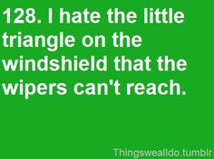 OCD I thought I was the only one . I told my mom yesterday that Im gunna invent wipes that get the triangle.