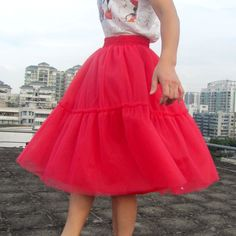 Custom Made 6 Layers New 2017 Tutu Tulle Skirts Red skirts Women Fashion Party Design saias femininas formal faldas cortas-in Skirts from Women's Clothing & Accessories on Aliexpress.com | Alibaba Group