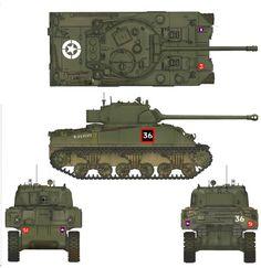 Guards Armoured Sherman VC Firefly markings Sherman Firefly, British Army, British Tanks, Camouflage Colors, Sherman Tank, War Thunder, Model Tanks, Armored Fighting Vehicle, Ww2 Tanks