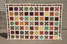 Autumn-colored quilt