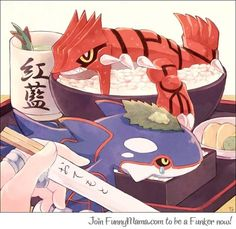 Groudon and Kyogue