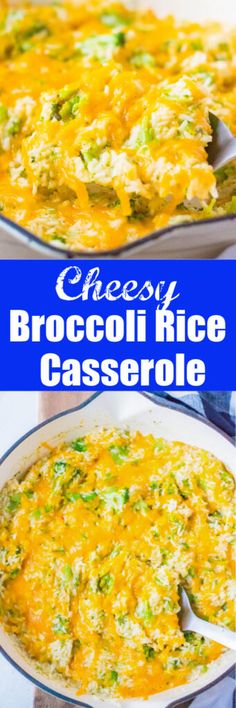 Broccoli Rice Casserole - a quick and easy stovetop version of the classic! Made from scratch with no cream soups, the perfect easy side dish.