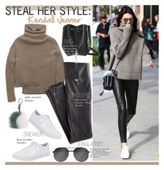 """""""No 271:Steal Her Style:Kendall Jenner (December 20 2015)"""" by lovepastel ❤ liked on Polyvore featuring Amie, Wrap, Kenneth Cole, Yves Saint Laurent and Fendi"""