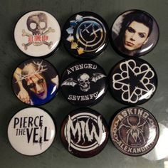 All Time Low, Blink 182, Black Veil Brides, Motionless in White, Avened Sevenfold, Pierce the Veil, Asking Alexandria plugs