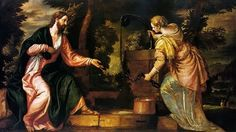Christ and the Samaritan Woman at the Well / Cristo e la Samaritana // circa 1585 // Paolo Caliari (Veronese) // Kunsthistorisches Museum / Gemäldegalerie // Renaissance, Michelangelo, Kunsthistorisches Museum Wien, Divine Mercy, Living Water, Christian Art, Art Reproductions, Christianity, Prayers
