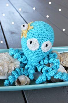 Virkad bläckfisk - Crochet octopus by Kungen o Majkis.