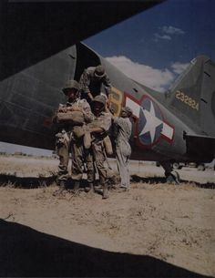 Troopers of the 101st Airborne prepping for a training jump. AIRBORNE!!