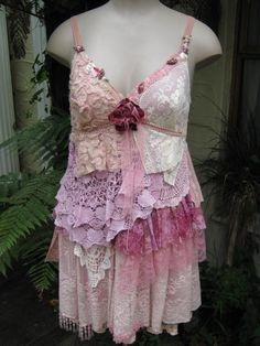 Too cute...    VINTAGE KITTY pretty in pink shabby chic by sistersroseandruby, $277.00