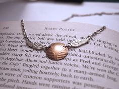 Golden Snitch necklace, metal etching, material: brass